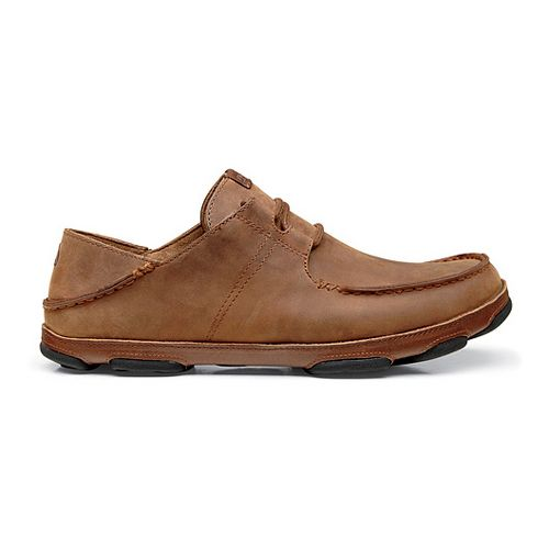 Mens OluKai Ohana Lace-Up Nubuck Casual Shoe - Henna/Toffee 7