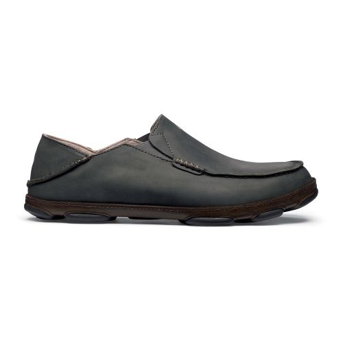 Mens OluKai Moloa Casual Shoe - Black Olive/Seal Brown 10