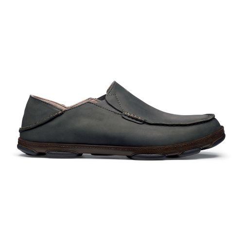 Mens OluKai Moloa Casual Shoe - Black Olive/Seal Brown 14