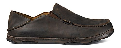 Mens OluKai Moloa Casual Shoe - Dark Wood/Dark Java 10.5