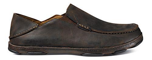 Mens OluKai Moloa Casual Shoe - Dark Wood/Dark Java 12