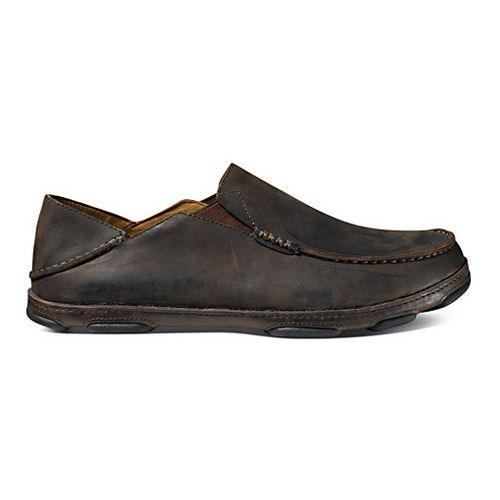 Mens OluKai Moloa Casual Shoe - Dark Wood/Dark Java 10