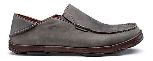 Mens OluKai Moloa Casual Shoe - Storm Grey/Dark Wood 14