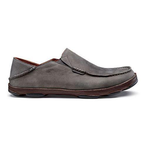 Mens OluKai Moloa Casual Shoe - Storm Grey/Dark Wood 14