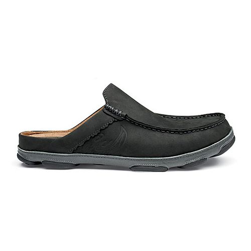 Mens OluKai Kono II Casual Shoe - Black/Dark Shadow 8