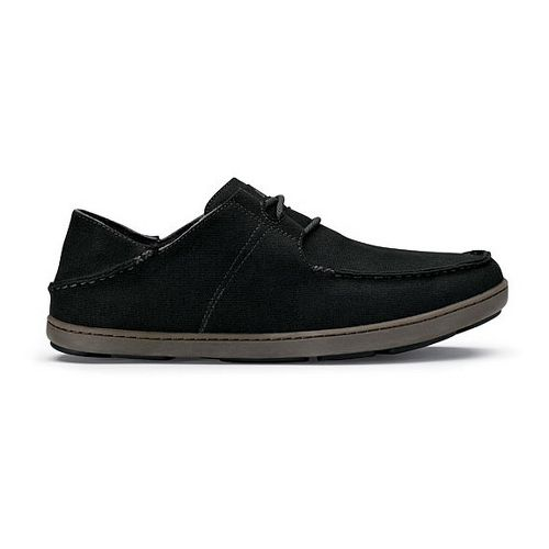 Mens OluKai Ohana Sneaker Canvas Casual Shoe - Iron/Iron 9.5