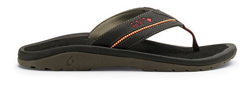 Mens OluKai Kia'i II Sandals Shoe - Black/Black 14