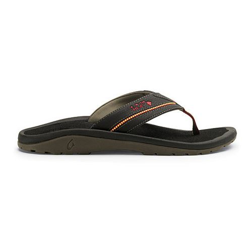 Mens OluKai Kia'i II Sandals Shoe - Black/Black 14
