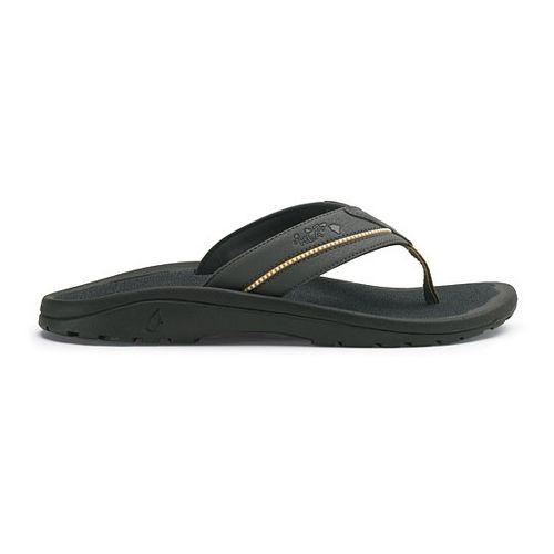 Mens OluKai Kia'i II Sandals Shoe - Dark Shadow/Dark Shadow 15