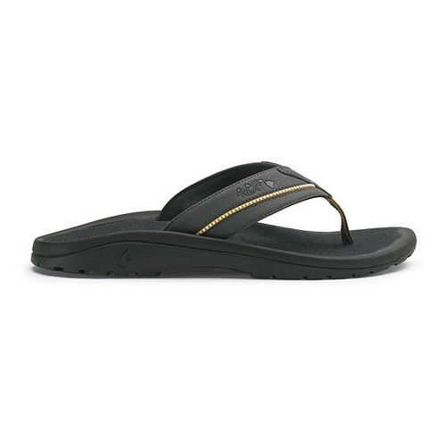 Mens OluKai Kia'i II Sandals Shoe - Dark Shadow/Dark Shadow 9