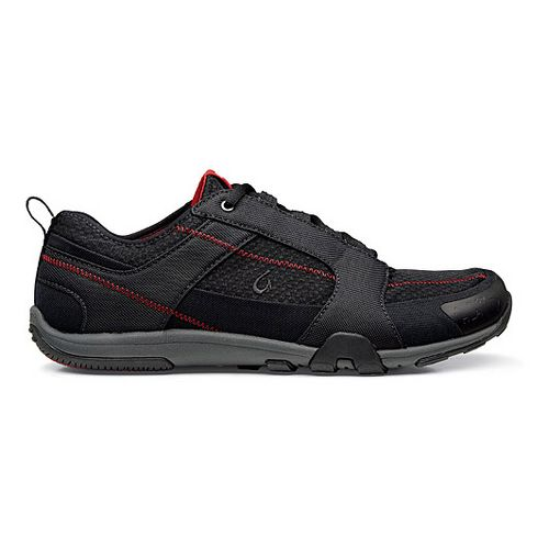 Mens OluKai Kamiki Cross Training Shoe - Black/Deep Red 10.5