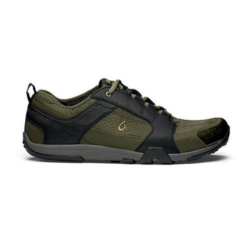 Mens OluKai Kamiki Cross Training Shoe - Black/Dark Olive 10