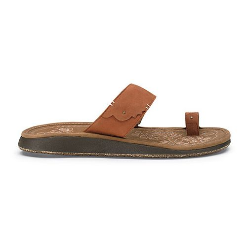 Womens OluKai Hauhoa Sandals Shoe - Cognac/Toffee 5