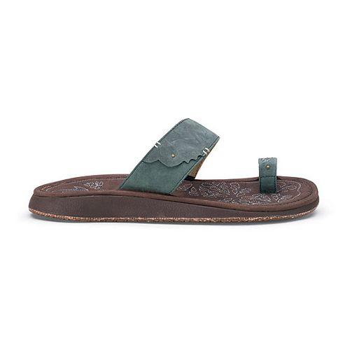 Womens OluKai Hauhoa Sandals Shoe - Dark Emerald/Dark Java 8