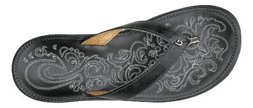 Womens OluKai Paniolo Sandals Shoe - Charcoal/Charcoal 10