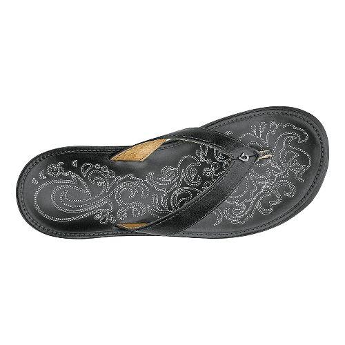 Womens OluKai Paniolo Sandals Shoe - Charcoal/Charcoal 7