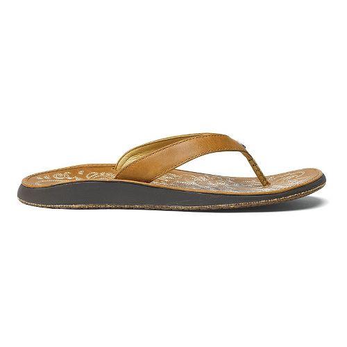 Womens OluKai Paniolo Sandals Shoe - Sahara/Sahara 8