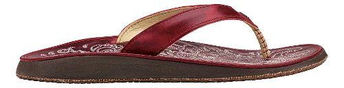 Womens OluKai Paniolo Sandals Shoe - Ohia Red/Ohia Red 10