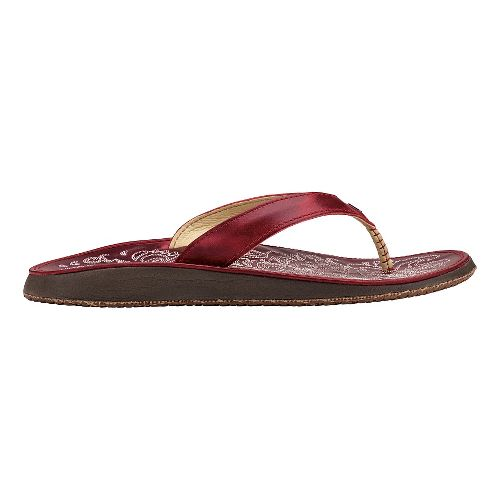 Womens OluKai Paniolo Sandals Shoe - Ohia Red/Ohia Red 10