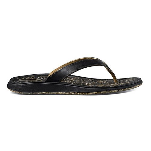Womens OluKai Paniolo Sandals Shoe - Black/Black 6
