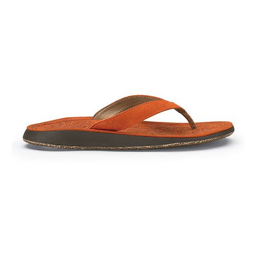 Womens OluKai Paniolo Sandals Shoe - Dark Orange/Dark Orange 8