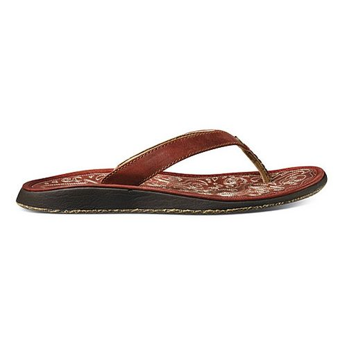 Womens OluKai Paniolo Sandals Shoe - Deep Red/Deep Red 7