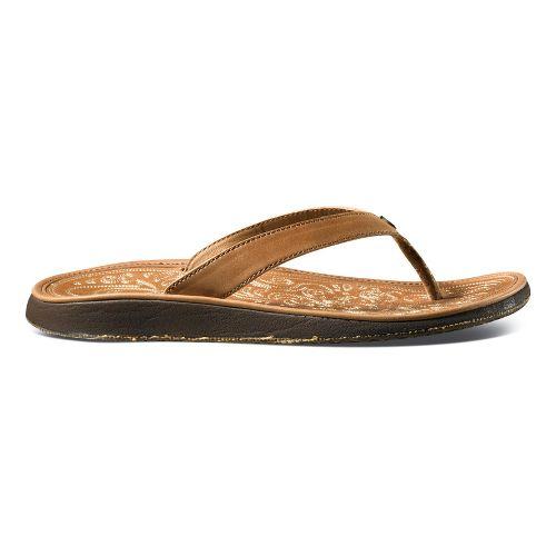 Womens OluKai Paniolo Sandals Shoe - Dune/Dune 5