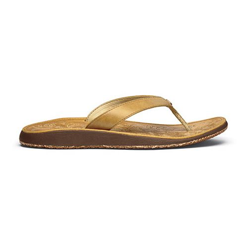 Womens OluKai Paniolo Sandals Shoe - Golden/Golden 9