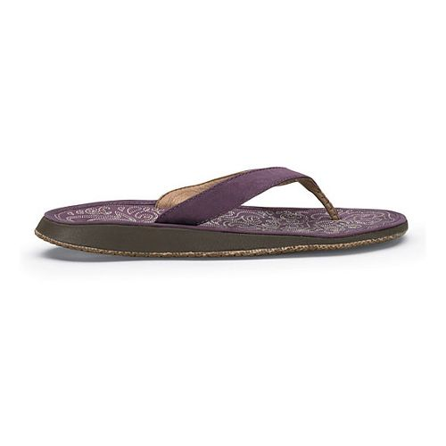 Womens OluKai Paniolo Sandals Shoe - Plum/Plum 10