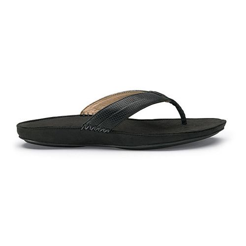 Womens OluKai Haiku Elua Sandals Shoe - Black/Dark Shadow 10