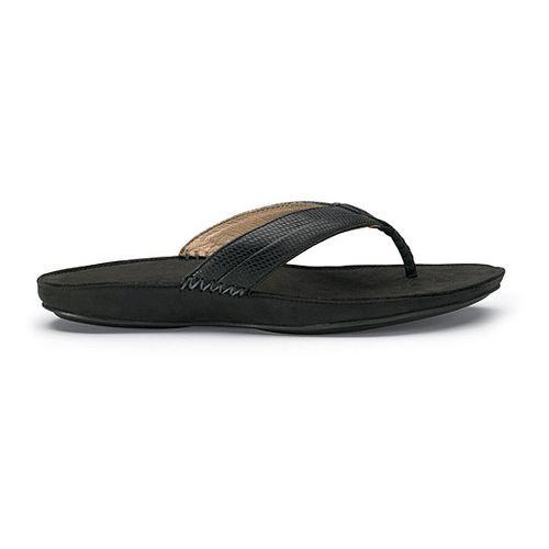 Womens OluKai Haiku Elua Sandals Shoe - Black/Dark Shadow 5