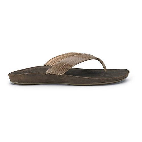 Womens OluKai Haiku Elua Sandals Shoe - Clay/Dark Java 10