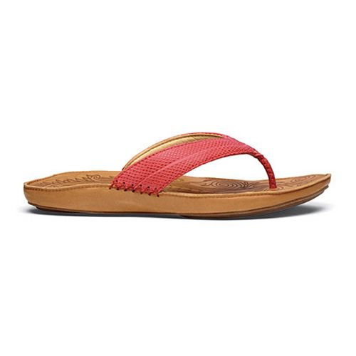 Womens OluKai Haiku Elua Sandals Shoe - Cinder/Natural 10