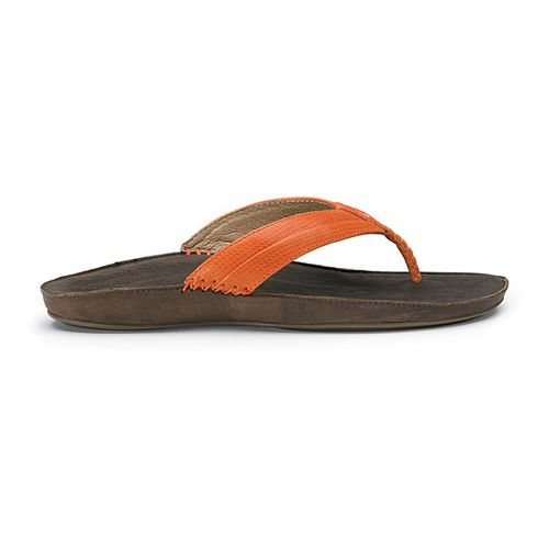 Womens OluKai Haiku Elua Sandals Shoe - Dark Orange/Dark Java 7