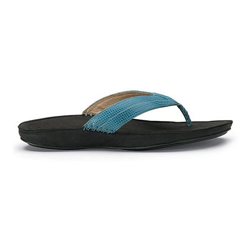 Womens OluKai Haiku Elua Sandals Shoe - Pale Ocean/Black 7