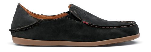 Womens OluKai Nohea Nubuck Casual Shoe - Black/Tan 10