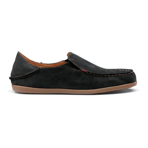 Womens OluKai Nohea Nubuck Casual Shoe - Black/Tan 5
