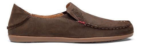 Womens OluKai Nohea Nubuck Casual Shoe - Dark Java/Tan 7.5