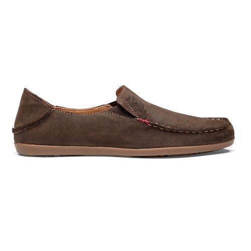 Womens OluKai Nohea Nubuck Casual Shoe - Dark Java/Tan 5