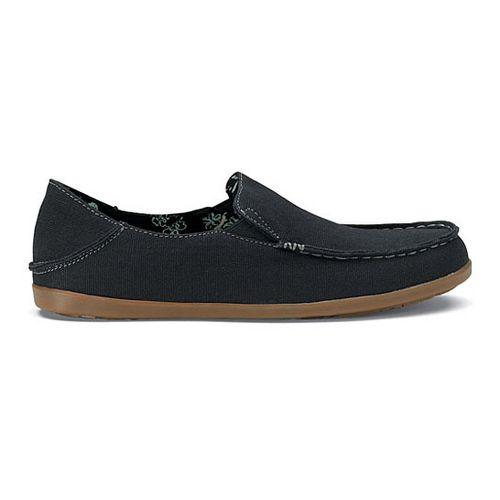 Womens OluKai Nohea Canvas Casual Shoe - Black/Charcoal 5