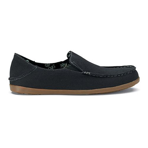 Womens OluKai Nohea Canvas Casual Shoe - Black/Charcoal 7.5