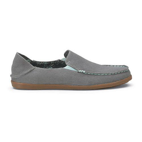 Womens OluKai Nohea Canvas Casual Shoe - Charcoal/Pale Mint 6