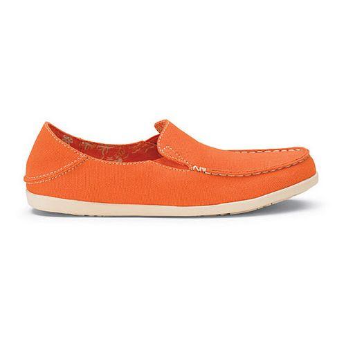 Womens OluKai Nohea Canvas Casual Shoe - Dark Orange/Tapa 9