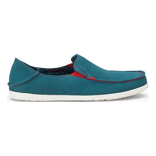Womens OluKai Nohea Canvas Casual Shoe - Ocean Depths/Deep Guava 5