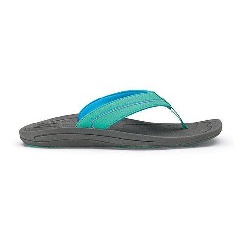 Womens OluKai Lele Sandals Shoe - Tropical Blue/Charcoal 7