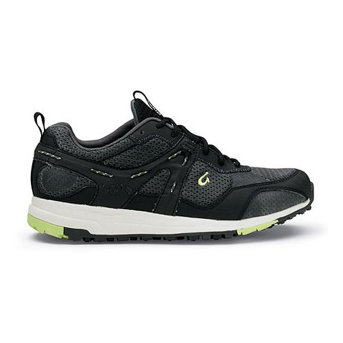 Womens OluKai Kia'i Trainer II Cross Training Shoe - Black/Pale Lime 9.5