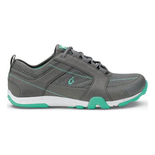 Womens OluKai Kamiki Cross Training Shoe - Charcoal/Tropical Blue 5