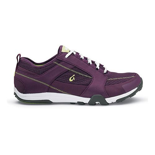 Womens OluKai Kamiki Cross Training Shoe - Plum/Pale Lime 9.5