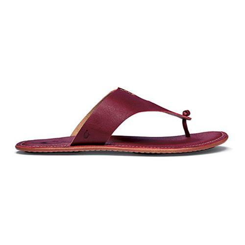 Womens OluKai Hema Sandals Shoe - Cardinal/Ginger 6