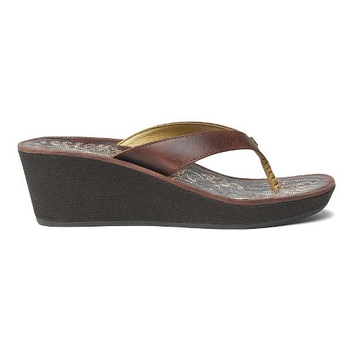 Womens OluKai Kaula Lio Sandals Shoe - Chesnut/Chesnut 5